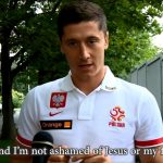 Robert Lewandowski Stands 4 Christ