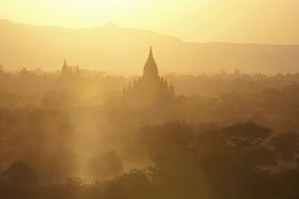 myanmar sunset