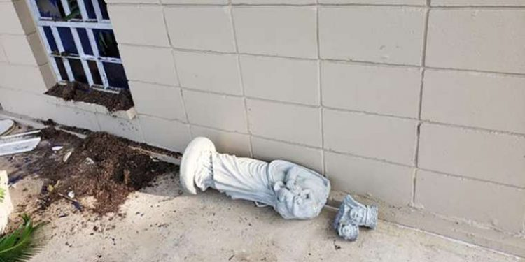 Damage_outside_Immaculate_Heart_of_Mary_Church_Courtesy_photo