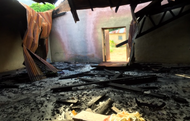 St. Peter's Anglican Church in Zangam was attacked by Fulani
