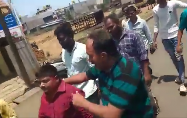 Pastor escorted by mob