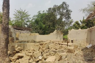 Destroyed house in Bangladesh